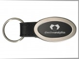 Brushed Zinc Oval Key Tag