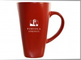Tall Café 16oz Ceramic Red