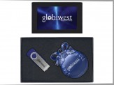 8GB Swivel USB & Holiday Bulb Ornament - SIL