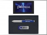 4GB Swivel USB & Touchscreen Stylus Pen - SIL