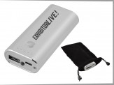 5200mAh Power Bank w/ Travel Zip Case - Silver