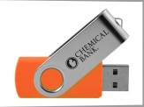 Swivel USB Thumb Drive - Orange