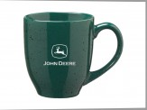 16 oz. Peppered Bistro Style Ceramic Mugs Green