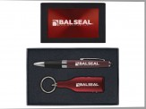 Torpedo Ballpoint Pen and Bottle Shaped Wine Opener Keytag Gift Set (08045-04) Burgundy