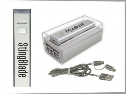 Power Bank w/ Duo Charging Cord (Plastic Presentation Case) (14034-51)