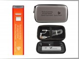 2600mah Power Bank w/ Grey Travel Zip Case & Duo Charging Cable (14037-61) Silver