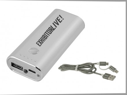 5200mAh Power Bank with Duo Charging Cable (14035-01)