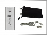 5200mAh Power Bank w/ Velvet Pouch and Duo Charging Cable (14035-71) Cobalt