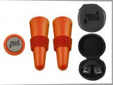COLORFUL WINE STOPPER SET with Travel Zip Case (06016-81) Orange