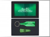 COLORFUL WINE STOPPER and BOTTLE SHAPED WINE OPENER KEY TAG (08054-04-05) Green