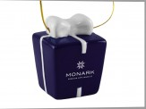 """Gift Box"" Ceramic 3D Ornament (11014-01)"
