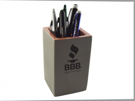 Copper Conrete Pencil Holder (07036-01)