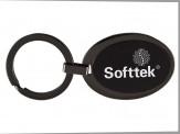Matte Black Metal Keychain (Oval) (01098-01)