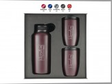 2 Piece 10 oz. Perfect-Fit Tumbler with 32 oz. Large Mouth Thermal Bottle Gift Set Engraved Lid (08075-09)