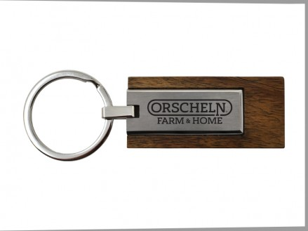 Wood & Metal Key Tag (01103-01)