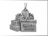 Pewter Finish Gift Boxes Ornament