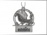 Pewter Finish Sleigh Ornament