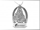Pewter Finish Christmas Tree Ornament