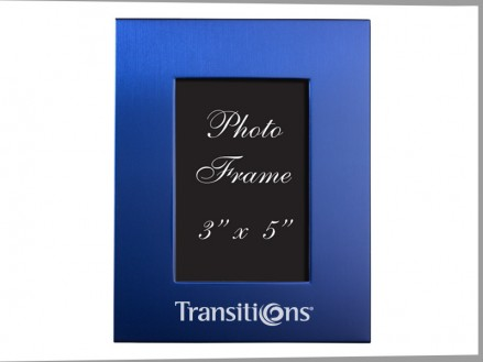 Brushed Aluminum Colored Picture Frame