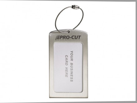 Stainless Steel Luggage Tag w/Cable