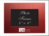 Brushed Aluminum 4 x 6 Picture Frame Blue