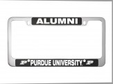 Brushed Zinc and Colored License Frame