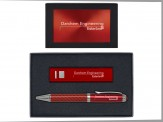 2600mAh Power Bank and Carbon Fiber Ballpoint Pen - Sil