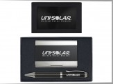 MCarbon Fiber Ballpoint Pen & Carbon Fiber Business Card SIL