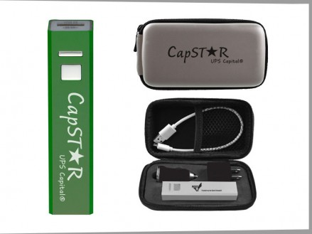 Traveler Power Bank Gift Set with Grey Engraved Travel Case (14028-61)