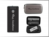 Topflite Traveler Power Bank Set with Ultra Suede Zip Case(14026-61) Silver