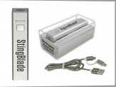 Power Bank w/ Duo Charging Cord (Plastic Presentation Case) (14034-51) Silver