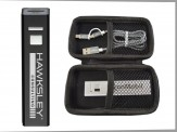 2600mah Power Bank w/Travel Zip Case & Duo Charging Cable (14034-81) Silver
