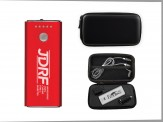 Topflite Traveler Power Bank Set W/ Duo Charging Cord(14038-01) Black