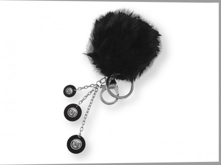 Plush Color Puff Key Chain (01094-01)
