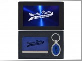 Ultra Suede Business Card Holder and Key Chain (08055-04)