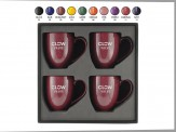 4 Piece 16 oz. Speckled Bistro Mug Gift Set Engraved Lid (08071-19)