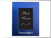 Brusshed Aluminum Colored Picture Frame Blue